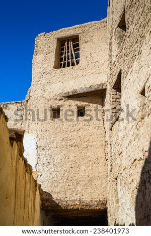 Old House in Al Qasr, old village in Dakhla Desert, Egypt