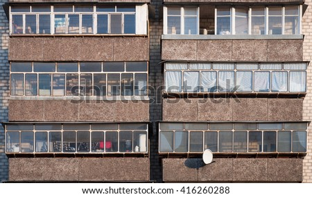 Old house in bad district  - stock photo