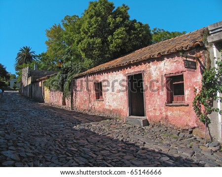 Old House in Colonia de Sacramento Town