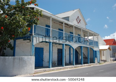 Old house in Grand Turk, Turks and Caicos Islands