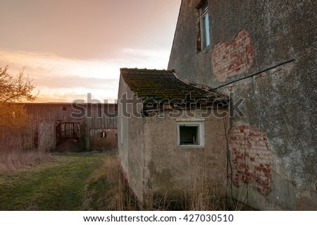 Old house in need of renovation - stock photo