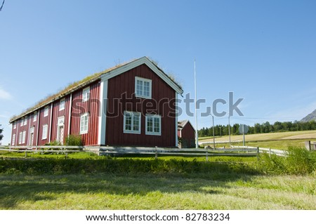 Old house in northern Norway - stock photo