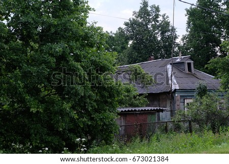 Old house in Repishe, Odintsovo district, Moscow region, Russia