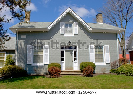 Old house in superb area - stock photo