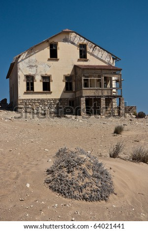 Old house in the ghost town of Kolmanskop, Namibia