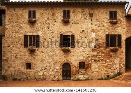 old house in Tuscany,Italy - stock photo