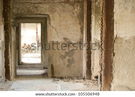 old house inside - stock photo