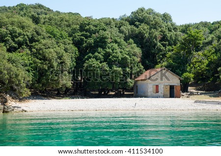 old house on the beach