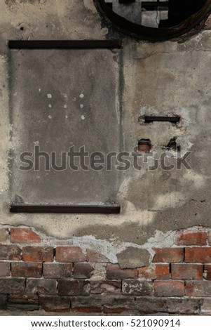Old house wall -  background with space for text or plate