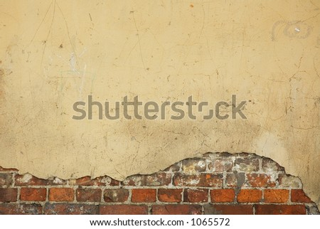 old house wall - nice background with space for text - stock photo