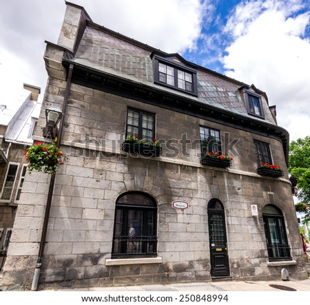 Old House which dates from 1841 in Old Quebec City, Canada. - stock photo