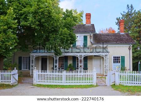 Superior Old House With Veranda At Black Creek Pioneer Village.