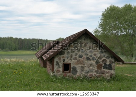 Old house with wooden ROOF.