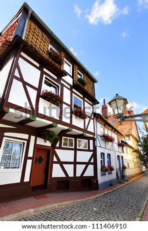 Old houses in Hildesheim, Germany