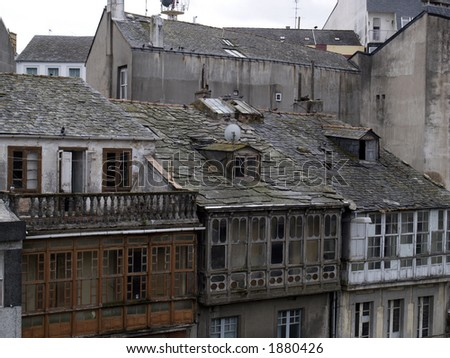 old houses in Lugo, Galicia.