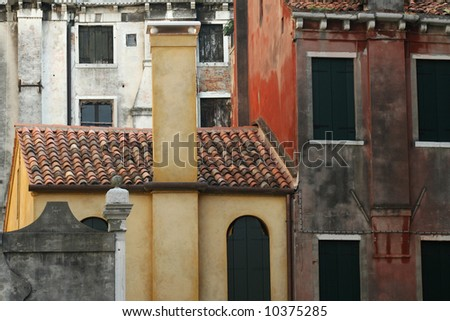 Old houses in Venice Between Ponte dell'Accademia and San Marco