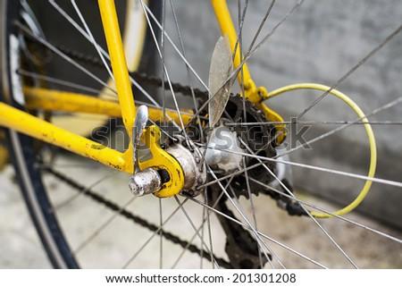 old hub bike - stock photo