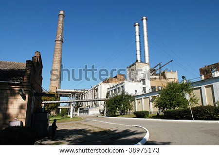 Old industrial complex 2 - stock photo
