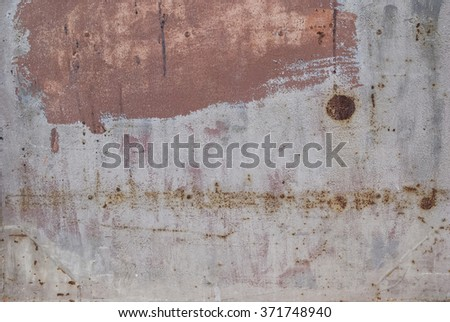 old industrial metal panel, rusty and weathered  - stock photo