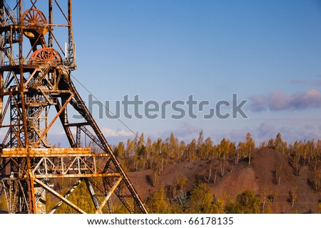 Old industry-Coal Mine and autumn forest
