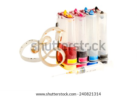 old ink tank - stock photo