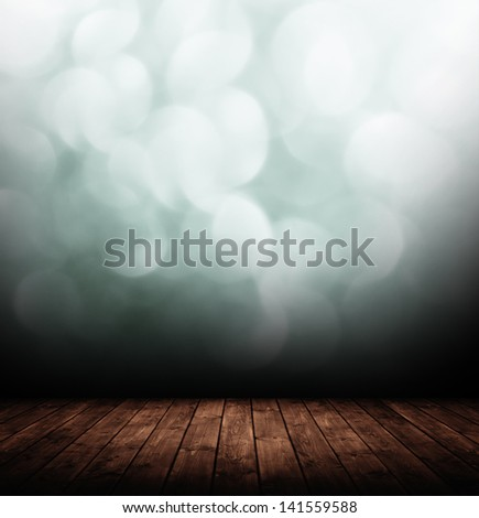 old interior room with abstract wall. - stock photo