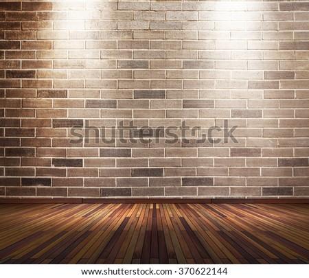 Interior Brick Wall Lights : Old Interior Room Brick Wall Light Stock Photo 109795100 - Shutterstock