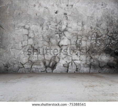 old interior, vintage background - stock photo