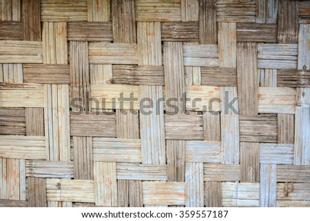 Old Interlace bamboo wall