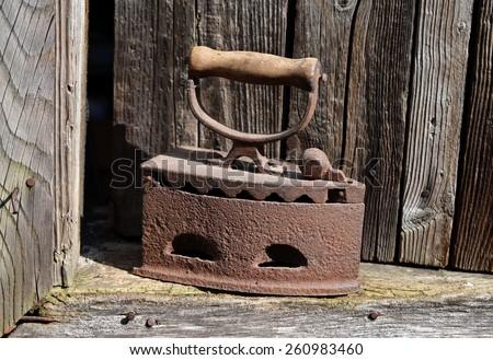 Old iron - stock photo