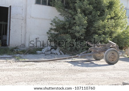 Old Iron trailer - stock photo