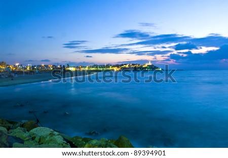 Old Jaffa seascape view , Israel - stock photo