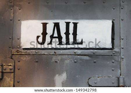 Old jail - stock photo