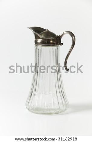 old jar on white - stock photo