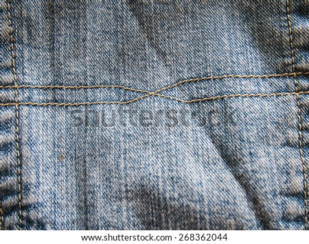 old jeans fashion backgrounds  - stock photo