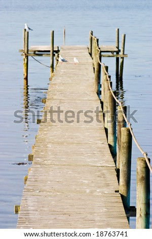 Old jetty at the coast