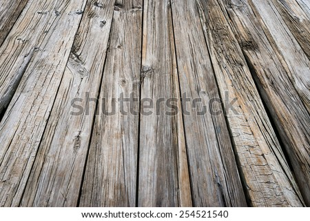 Old jetty beach wood weathered texture background board - stock photo