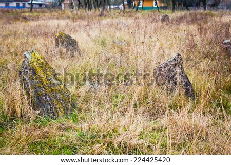 old Jewish cemetery - stock photo