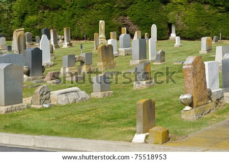 Old Jewish cemetery in California - stock photo