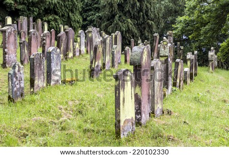 old jewish cenetery in Emmendingen - stock photo