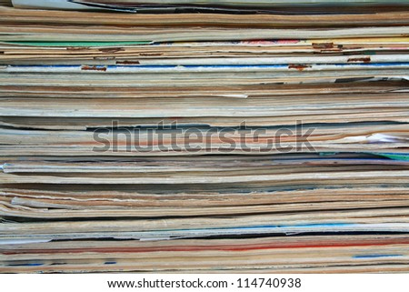 old journals - stock photo