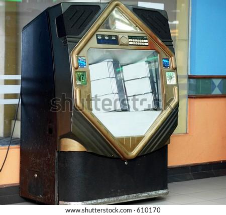 old jukebox - stock photo