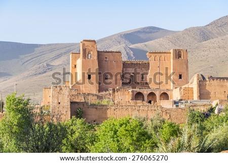 Old kasba in Boumalne region, Morocco - stock photo