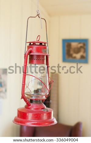 Old kerosene lamp - stock photo