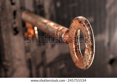 Old key - stock photo