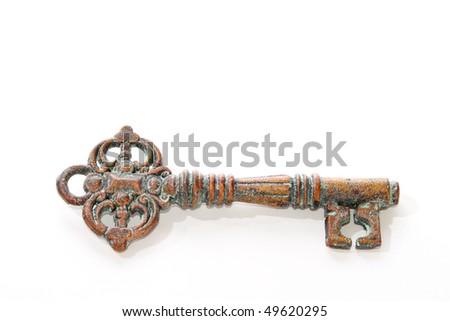 Old key - stock photo