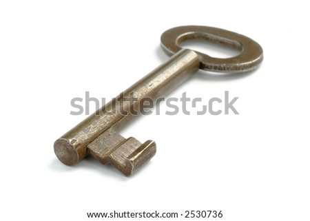 old key isolated on white