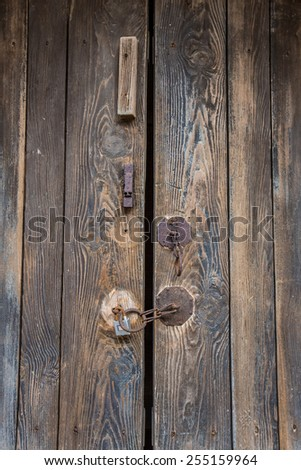 Old korea door - stock photo