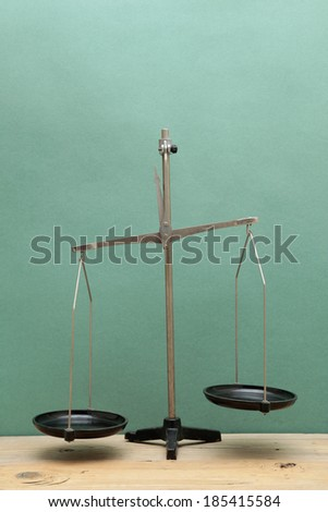 old laboratory scales