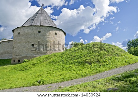 Old Ladoga Fortress, Ancient Russian Capital - stock photo